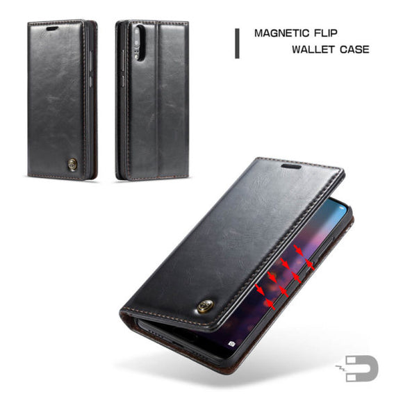 CaseMe For Huawei P20 Pro Wallet Stand Magnetic Flip Case