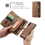 CaseMe For Huawei P20 Pro Zipper Wallet Magnetic Folio Case Detachable 2 in 1 Back Cover