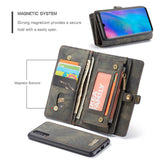 CaseMe For Huawei P30 Zipper Wallet Magnetic Folio Case Detachable 2 in 1 Back Cover