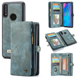 CaseMe For Huawei P30 Lite Zipper Wallet Magnetic Folio Case Detachable 2 in 1 Back Cover