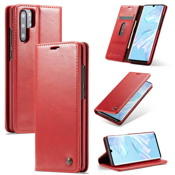 CaseMe For Huawei P30 Pro Wallet Stand Magnetic Flip PU Leather Case