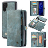 CaseMe For Huawei P30 Pro Zipper Wallet Magnetic Folio Case Detachable 2 in 1 Back Cover