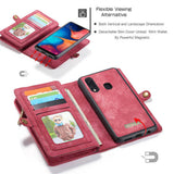 CaseMe For Samsung Galaxy A20 Zipper Wallet Magnetic Case Detachable 2 in 1 Cover