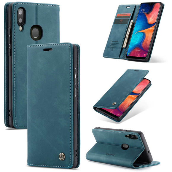 CaseMe For Samsung Galaxy A20 Wallet Kickstand Magnetic Flip Leather Case
