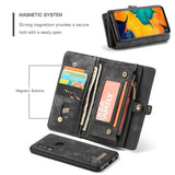 CaseMe For Samsung Galaxy A40 Zipper Wallet Magnetic Case Detachable 2 in 1 Cover