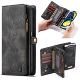 CaseMe For Samsung Galaxy A80 Zipper Wallet Magnetic Detachable 2 in 1 Case
