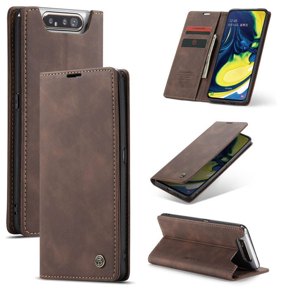 CaseMe For Samsung Galaxy A80 Slim Wallet Stand Magnetic Flip Leather Case