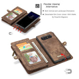 CaseMe For Samsung Galaxy Note 8 Zipper Wallet Magnetic Folio Case Detachable 2 in 1 Back Cover