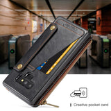 CaseMe For Samsung Galaxy Note 9 Business Zipper Wallet Detachable 2 in 1 Case