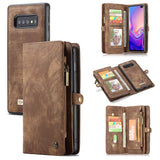CaseMe For Samsung Galaxy S10 Plus Zipper Wallet Magnetic Folio Case Detachable 2 in 1 Cover