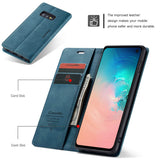 CaseMe For Samsung Galaxy S10e Retro Wallet Kickstand Magnetic Flip Leather Case