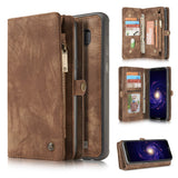 CaseMe For Samsung Galaxy S8 Plus Zipper Wallet Magnetic Folio Case Detachable 2 in 1 Back Cover