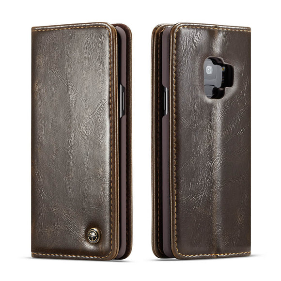 CaseMe For Samsung Galaxy S9 Wallet Stand Magnetic Flip Case