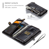 CaseMe For Samsung Galaxy S9 Wallet Magnetic Case With Wrist Strap Detachable 2 in 1 Back Cover