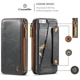 CaseMe For iPhone 6 Plus/6s Plus Business Zipper Wallet Detachable 2 in 1 Case