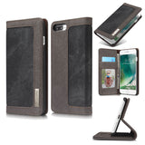 CaseMe For  iPhone 7 Plus/8 Plus Canvas Leather Wallet Stand Magnetic Flip Case