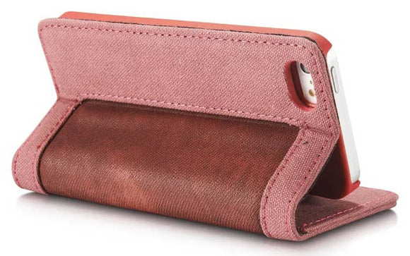 CaseMe For iPhone 5/5S/SE Canvas Leather Wallet Stand Magnetic Flip Case
