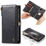 CaseMe For iPhone 11 Detachable Leather Wallet Case with Wrist Strap
