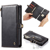 CaseMe For iPhone 11 Pro Max Detachable Leather Wallet Case with Wrist Strap