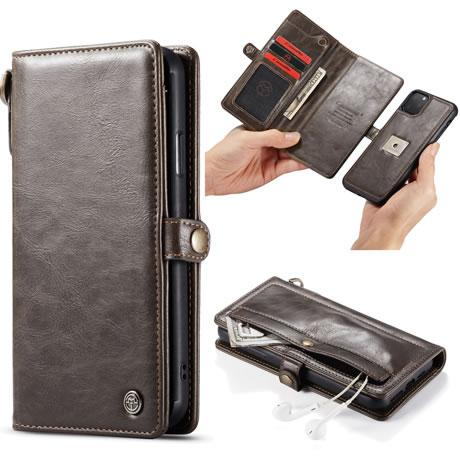 CaseMe For  iPhone 11 Pro Detachable Leather Wallet Case with Wrist Strap