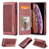 CaseMe For iPhone XS Max Canvas Leather Wallet Stand Magnetic Flip Case