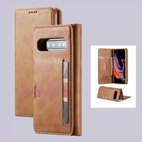 Leather Wallet case with Card slot for Samsung