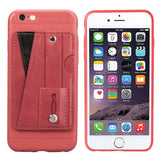 Cover with Credit Card Slots Kickstand and Wrist Strap Shockproof Stand Phone Case for iphone 7/8