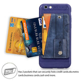 Credit Card Slots Kickstand and Wrist Strap Shockproof Stand Phone Case for iphone 7P/8P
