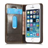 CaseMe For iPhone SE/5S Magnetic Flip Wallet Stand Case
