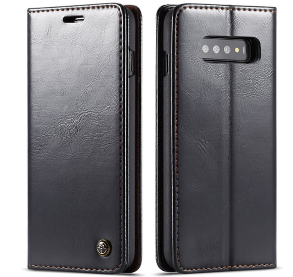 CaseMe For Samsung Galaxy S10 Magnetic Flip Leather Wallet Case