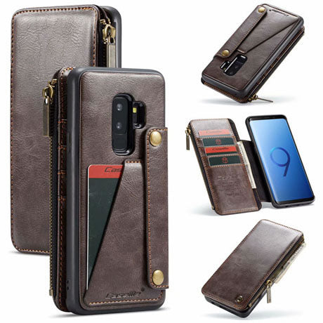 CaseMe For Samsung Galaxy S9 Plus Detachable Zipper Leather Wallet Case