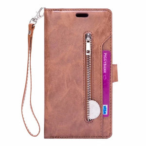 Flip Wallet Leather & Card Phone Bags Cover For iphone