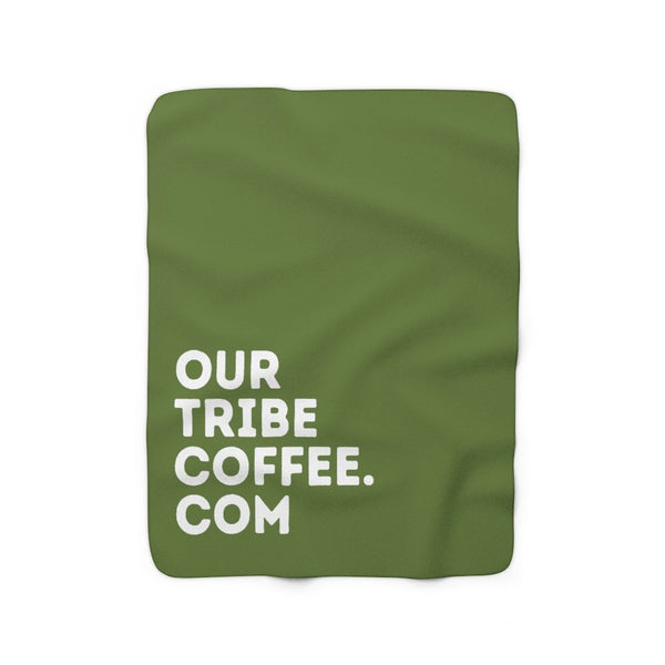 Our Tribe Coffee Sherpa Fleece Blanket - Our Tribe Inc