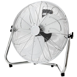 "Oypla Electrical 18"" Chrome 3 Speed Free Standing Gym Fan - Turbo Trainer Hire"