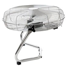 "Load image into Gallery viewer, Oypla Electrical 18"" Chrome 3 Speed Free Standing Gym Fan - Turbo Trainer Hire"