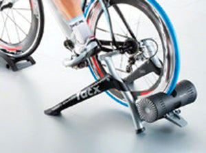 Tacx Bushido Wheel On Smart Trainer - Turbo Trainer Hire