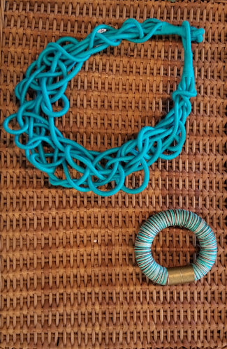 Turquoise Nodes necklace