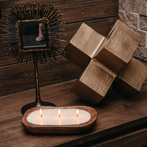 TLC 3-Wick Dough Bowl Candles