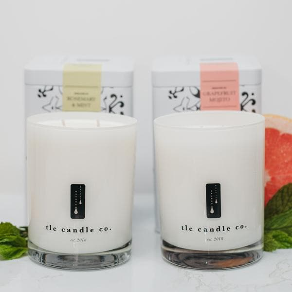 Rosemary Mint Candle | Grapefruit Candle Duo - TLC Candle Co.