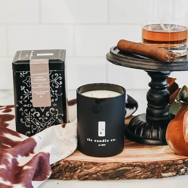 Leather Scented Candle - TLC Candle Co.
