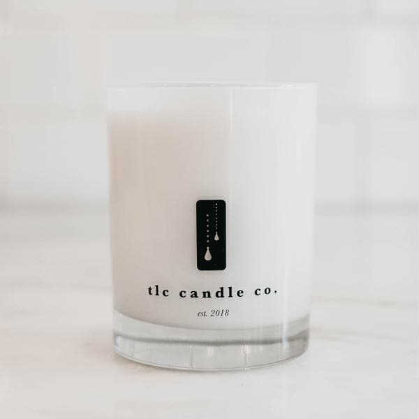 Amber noir double wick candle by top luxury soy candles boutique, TLC Candle Co.