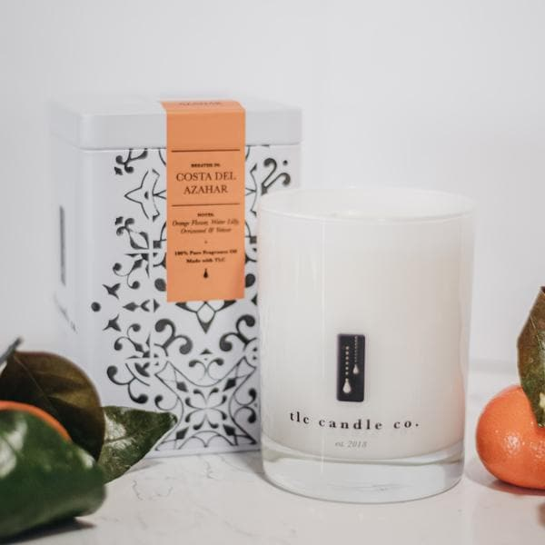 Costa Del Azahar, a luxury soy candle from TLC Candle Co.