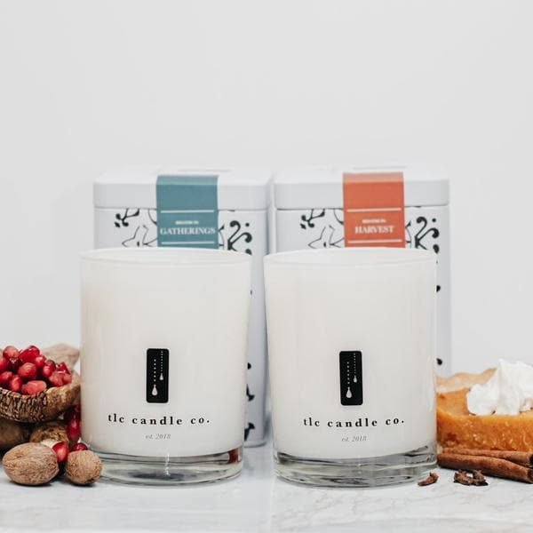 """Fall"" Luxury 2-Wick Candle Duo - TLC Candle Co."