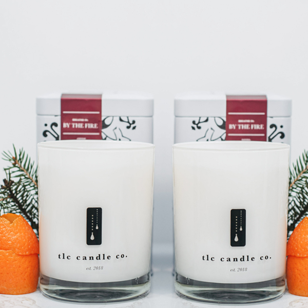 """Fireside Chat"" Luxury 2-Wick Candle Duo - TLC Candle Co."