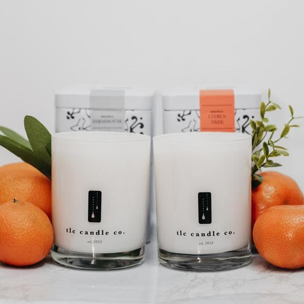 """Fresh Fruit"" Luxury 2-Wick Candle Duo - TLC Candle Co."