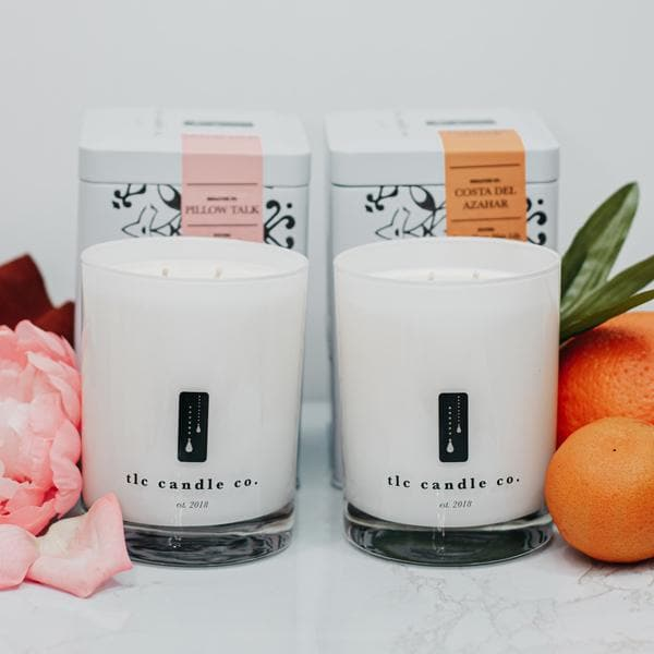 """Lazy Summer Days"" Luxury 2-Wick Candle Duo - TLC Candle Co."