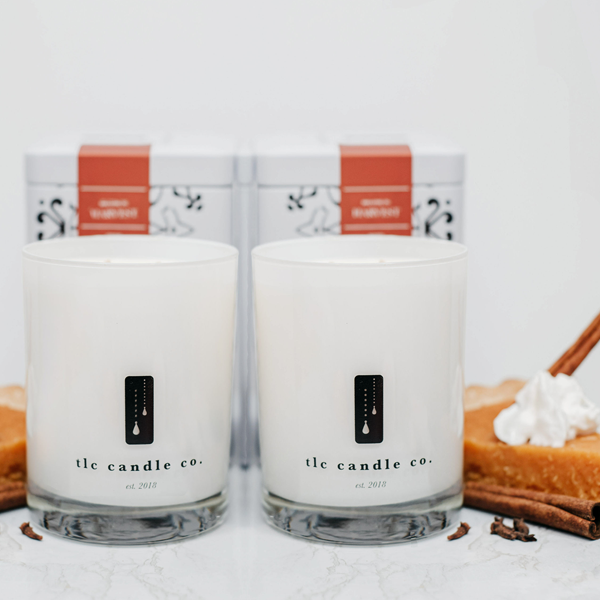 """Pie for Two"" Luxury 2-Wick Candle Duo - TLC Candle Co."
