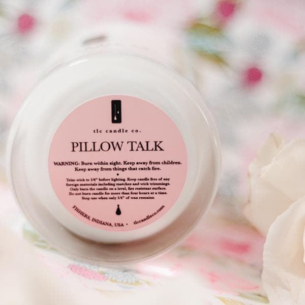 Pillow Talk, a luxury soy candle, from online candles boutique TLC Candle Co.