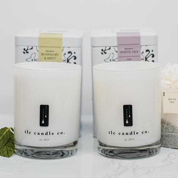 """Spa Day"" Luxury 2-Wick Candle Duo - TLC Candle Co."