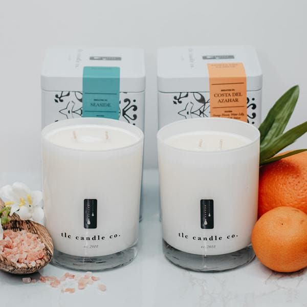 """Take Me There"" Luxury 2-Wick Candle Duo - TLC Candle Co."